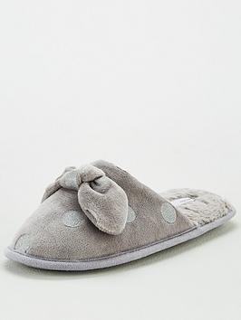 v-by-very-wina-polka-dot-mule-slippers-grey