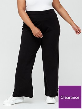 v-by-very-curve-co-ord-knitted-wide-leg-trouser-black