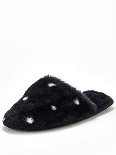 v-by-very-wileen-spotted-fur-mule-slippers-black