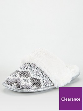 v-by-very-walda-fur-lined-chenille-mule-grey