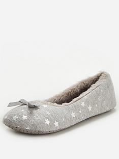 v-by-very-winnie-star-ballerina-slipper-grey-silver