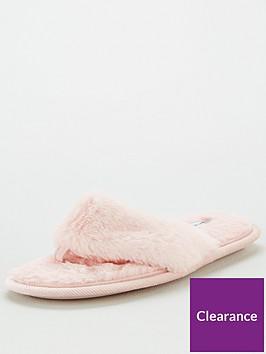 v-by-very-winoa-fauxnbspfur-toe-post-slipper-pink