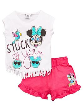 Minnie Mouse Minnie Mouse Girls Minnie Mouse Tassel Top &Amp; Short Set -  ... Picture