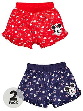 Minnie Mouse Minnie Mouse Girls Minnie Mouse 2 Pack All Over Print Shorts  ... Picture