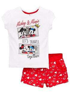 minnie-mouse-girls-minnie-mouse-lets-travel-together-t-shirt-amp-short-set-white