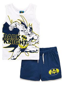 Batman Batman Boys Dark Knight Vest And Short Set - White Picture