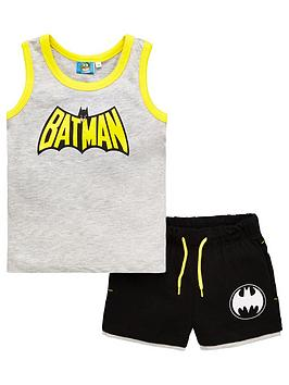 Batman Batman Boys Vest And Shorts Set - Grey Picture