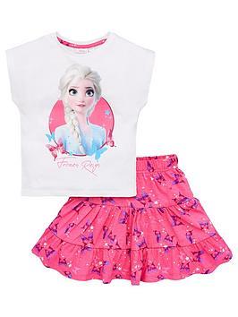 Disney Frozen Disney Frozen Girls Elsa Top And Skirt Set - White Picture