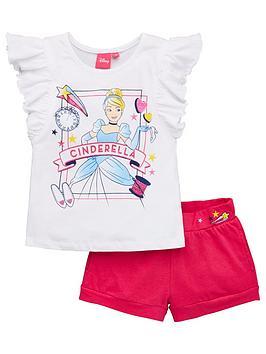 Disney Princess Disney Princess Girls Cinderella Frill Top And Short Set -  ... Picture