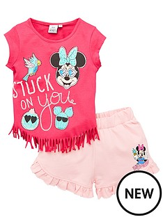 minnie-mouse-minnie-mouse-girlsnbsptassel-top-amp-short-set-pink