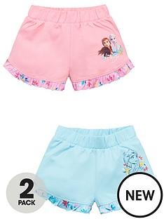 disney-frozen-girls-2-pack-frill-hem-shorts-multi