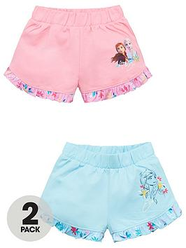 Disney Frozen Disney Frozen Girls 2 Pack Frill Hem Shorts - Multi Picture