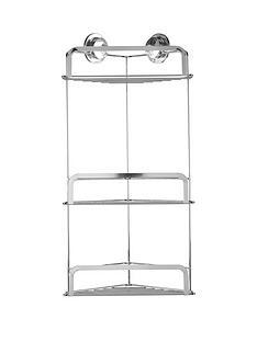 croydex-stick-lsquonrsquo-lock-three-tier-corner-basket