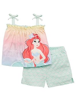 THE LITTLE MERMAID The Little Mermaid Girls Ariel Tie Cami Top And Short  ... Picture