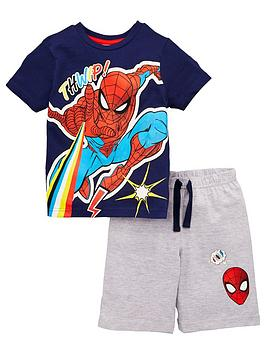 Spiderman Spiderman Boys 2 Piece T-Shirt And Short Set - Navy Picture