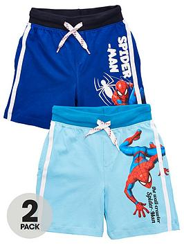 Spiderman Spiderman Boy Spiderman 2 Pack Side Stripe Shorts - Blue Picture