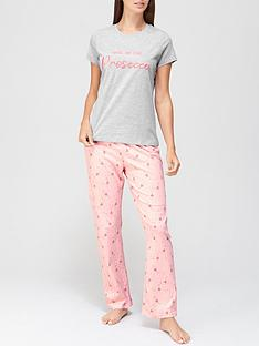 v-by-very-prosecco-slogan-jersey-pj-set-pink