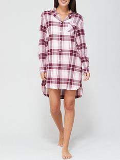 v-by-very-check-oversized-flannel-nightshirt-pinknbspcheck