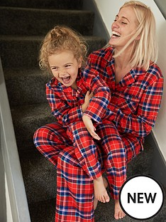 v-by-very-ladies-mini-me-button-through-check-pyjamas-red-check