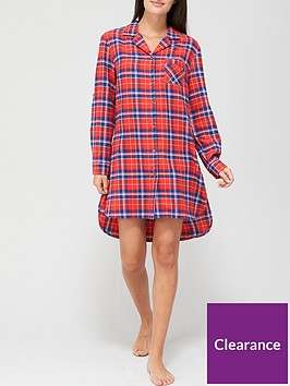 v-by-very-christmasnbspcheck-oversized-flannel-nightshirt-pink-check