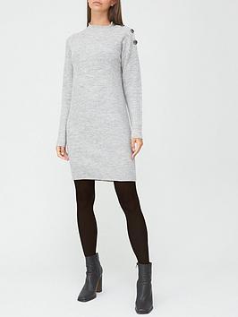 v-by-very-valuenbspbutton-detail-dress-grey