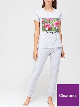 v-by-very-floral-graphic-jersey-pjnbspset-white