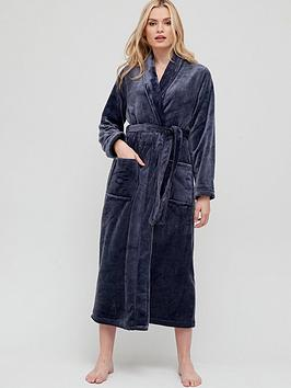 v-by-very-longer-length-supersoft-gown-navy