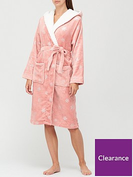 v-by-very-christmasnbspsnowflake-foil-dressing-gown-pink