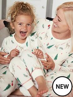 v-by-very-ladies-mini-me-soft-touch-christmas-pyjamas-white