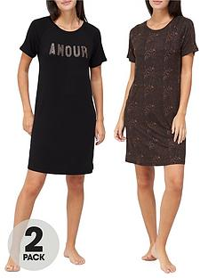 v-by-very-2-pack-printed-jersey-nightdress-animal-print