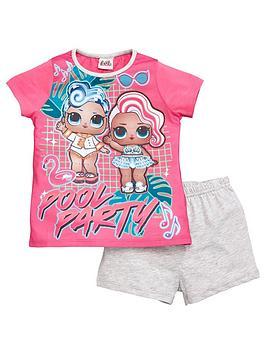 lol-surprise-girls-pool-party-shortie-pyjamas-pink