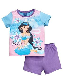 Disney Aladdin Disney Aladdin Girls Jasmine Shortie Pyjamas - Purple Picture