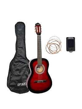3rd Avenue 3Rd Avenue 3Rd Avenue Full Size Classical Guitar Pack - Redburst Picture