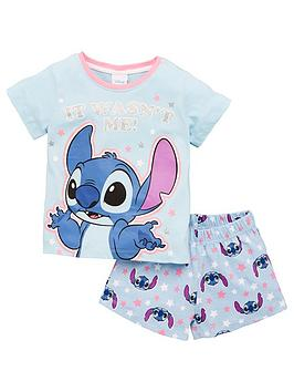 Character Character Girls Disney Lilo And Stitch Shortie Pjs - Blue Picture