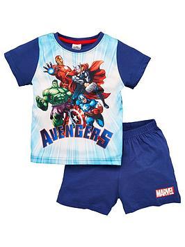 Marvel Marvel Boys Avengers Shortie Pjs - Blue Picture