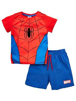 Spiderman Spiderman Boys Novelty Shortie Pjs - Red Picture