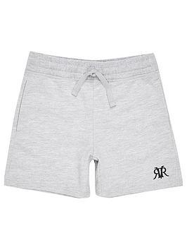 River Island River Island Boys Rvr Embroidered Jog Shorts - Grey Picture