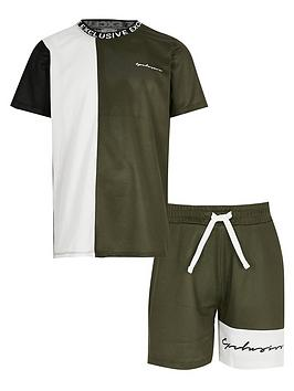 River Island River Island Boys 2 Piece Mesh Short Sleeve T-Shirt And  ... Picture