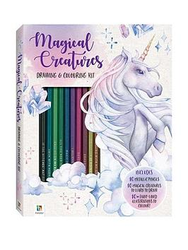 Very Magical Creatures Drawing And Colouring Kit Picture