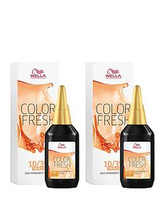 wella-wella-professionals-color-fresh-semi-permanent-colour-lightest-gold-central-blonde-75ml-duo-pack