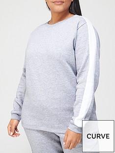 v-by-very-curve-side-stripe-lounge-sweatnbsptop-light-grey