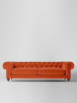 Product photograph showing Swoon Winston Fabric 4 Seater Sofa