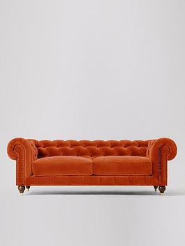 Product photograph showing Swoon Winston Fabric 3 Seater Sofa