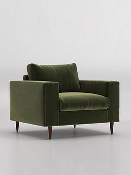 Product photograph showing Swoon Evesham Fabric Armchair