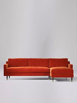 Product photograph showing Swoon Rieti Fabric Right Hand Corner Sofa