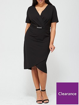 v-by-very-curve-wrap-stretch-pencil-dress-black