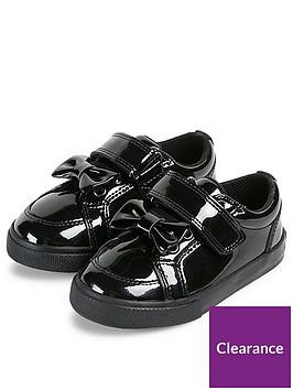 kickers-girls-tovni-lo-bow-plimsoll-black