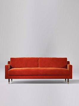 Product photograph showing Swoon Rieti Fabric 3 Seater Sofa