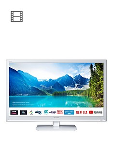 sharp-24bc0kw-24nbspinch-hd-ready-led-smart-tv-with-freeview-white