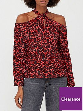v-by-very-cold-shoulder-halter-long-sleeve-top-red-animal